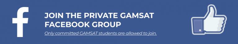 Facebook GAMSAT Group by Michael Sunderland